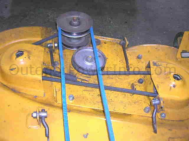 installation repair and replacement of v belts on cub cadet tractor rh outdoorpowerinfo com cub cadet 2186 deck belt diagram cub cadet 2166 deck belt diagram