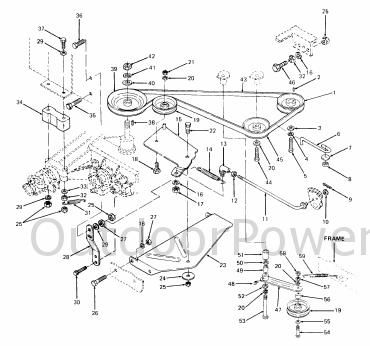 installation, repair and replacement of v belts on cub cadet Cub Cadet LT1045 Wiring-Diagram at Wiring Diagram Cub Cadet 1415