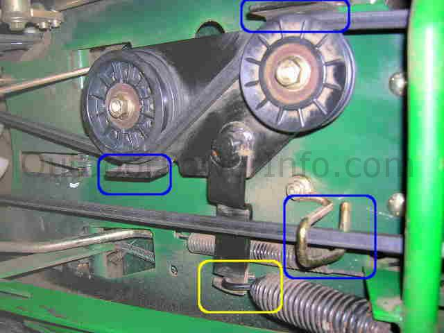 tension_idlers installation, repair and replacement of john deere lx266 hydro drive