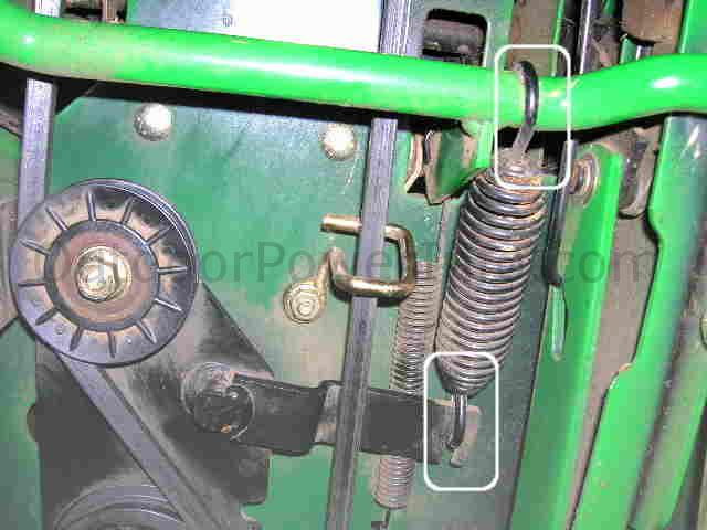 tension_spring installation, repair and replacement of john deere lx266 hydro drive