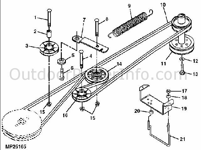 32 Scotts 1642h Deck Belt Diagram