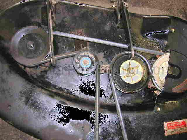deck_belt installation and replacement of john deere tractor stx38 and stx46