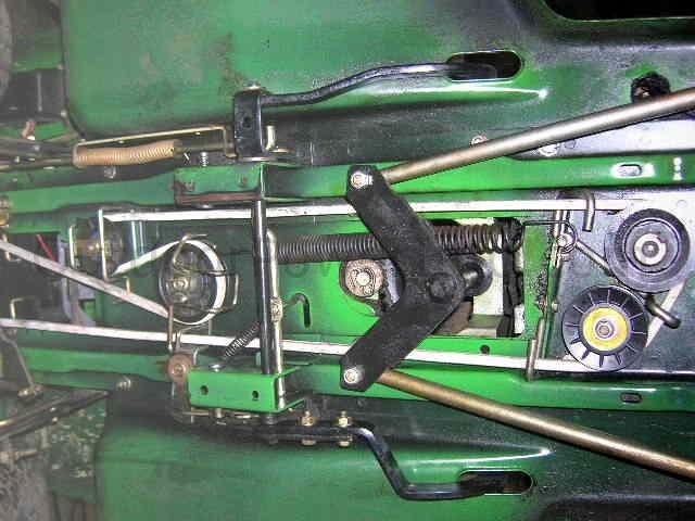 John Deere Stx38 Gear Drive Belt Yellow Deck Overall View