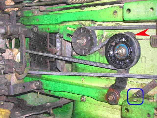 trans_idlers installation, repair and replacement of john deere stx38 and stx46 john deere stx38 yellow deck wiring diagram at creativeand.co