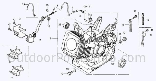 hp honda engine diagram wiring diagrams