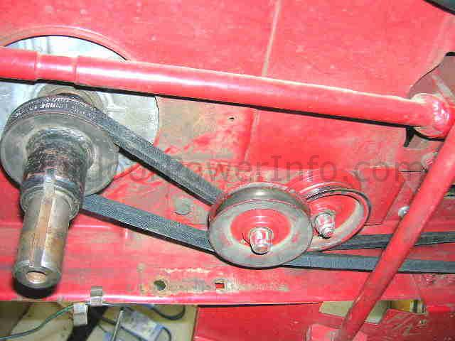_belt_front_left installation, repair and replacement of drive v belt 109428 on Toro Wheel Horse at reclaimingppi.co
